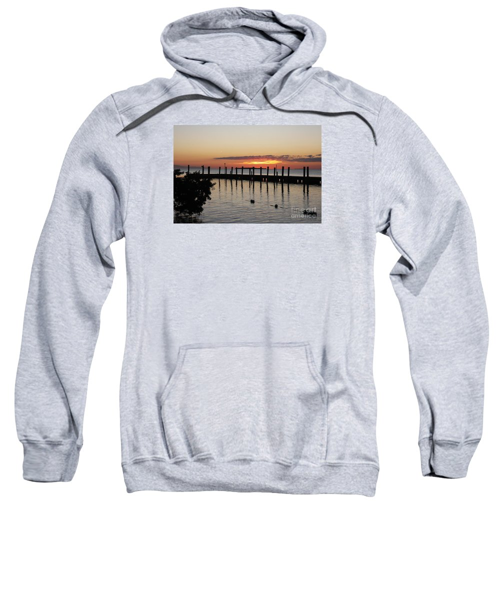 Sunset Sweatshirt featuring the photograph Charming Eveninglight Over Key Largo by Christiane Schulze Art And Photography