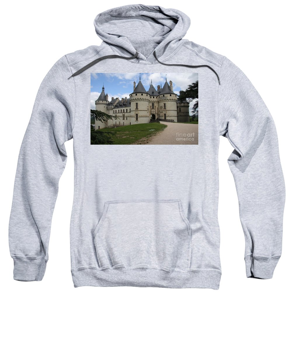 Palace Sweatshirt featuring the photograph Chateau Chaumont Steeples by Christiane Schulze Art And Photography