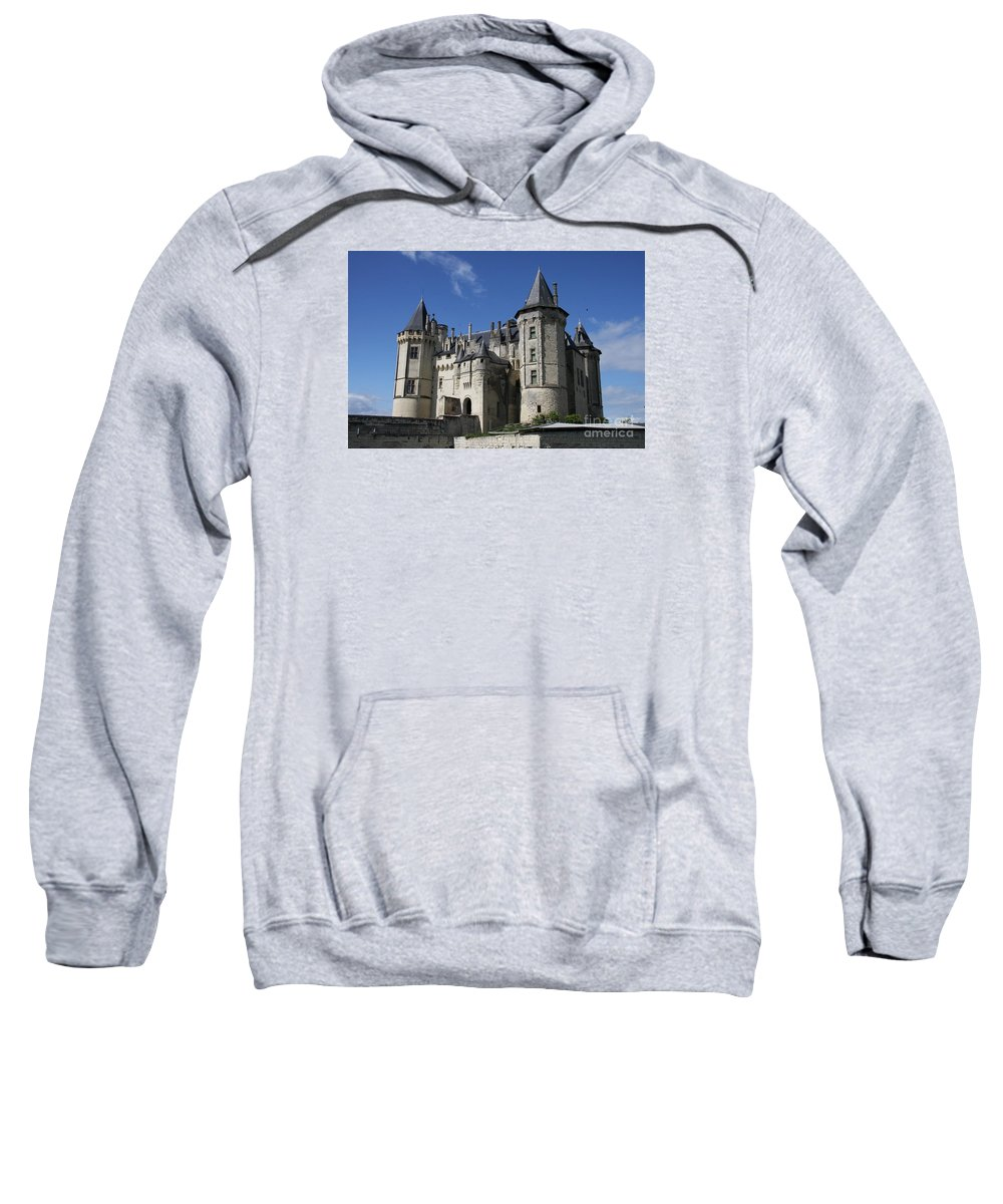 Castle Sweatshirt featuring the photograph Chateau De Saumur by Christiane Schulze Art And Photography