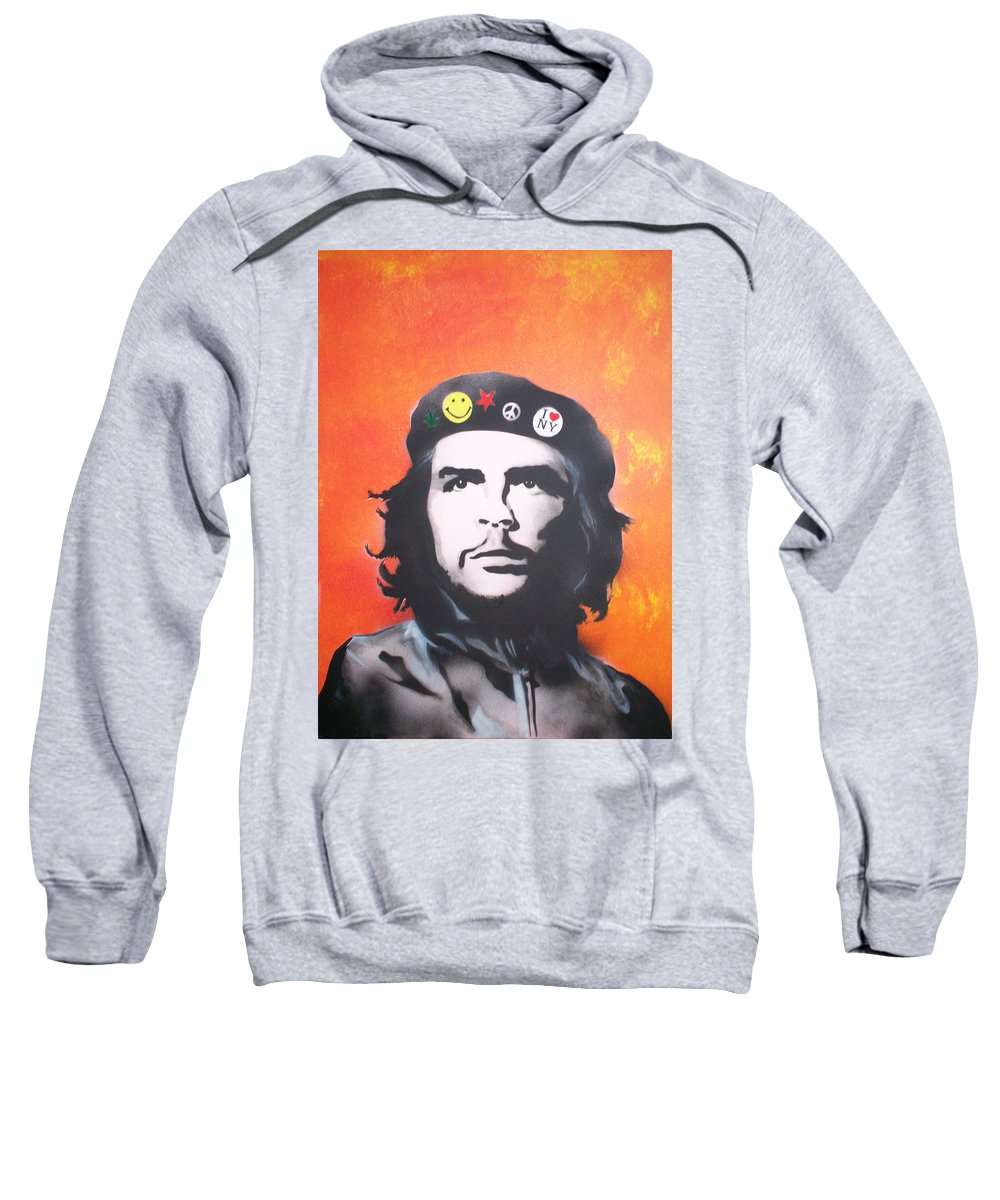 Che Sweatshirt featuring the painting Che by Gary Hogben