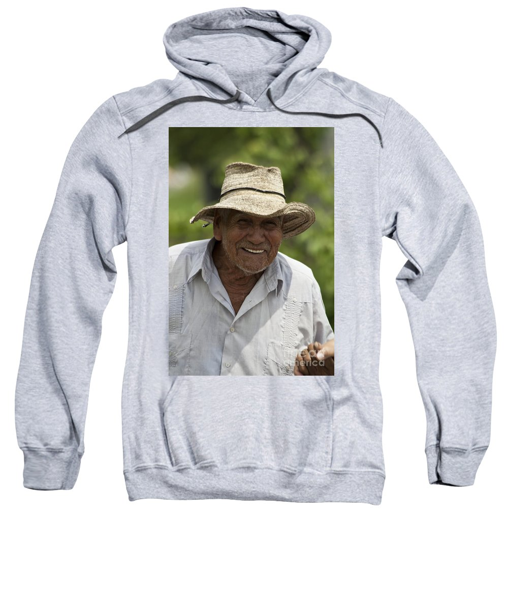 People Sweatshirt featuring the photograph Cheerful Character by Heiko Koehrer-Wagner