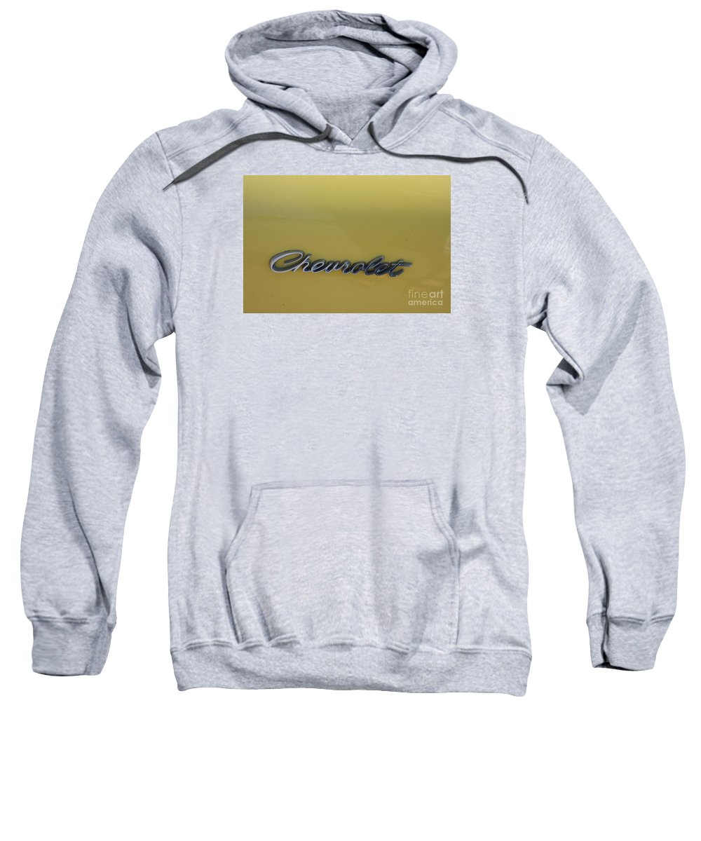 Chevrolet Logo Sweatshirt featuring the photograph Chevrolet Logo by Christiane Schulze Art And Photography