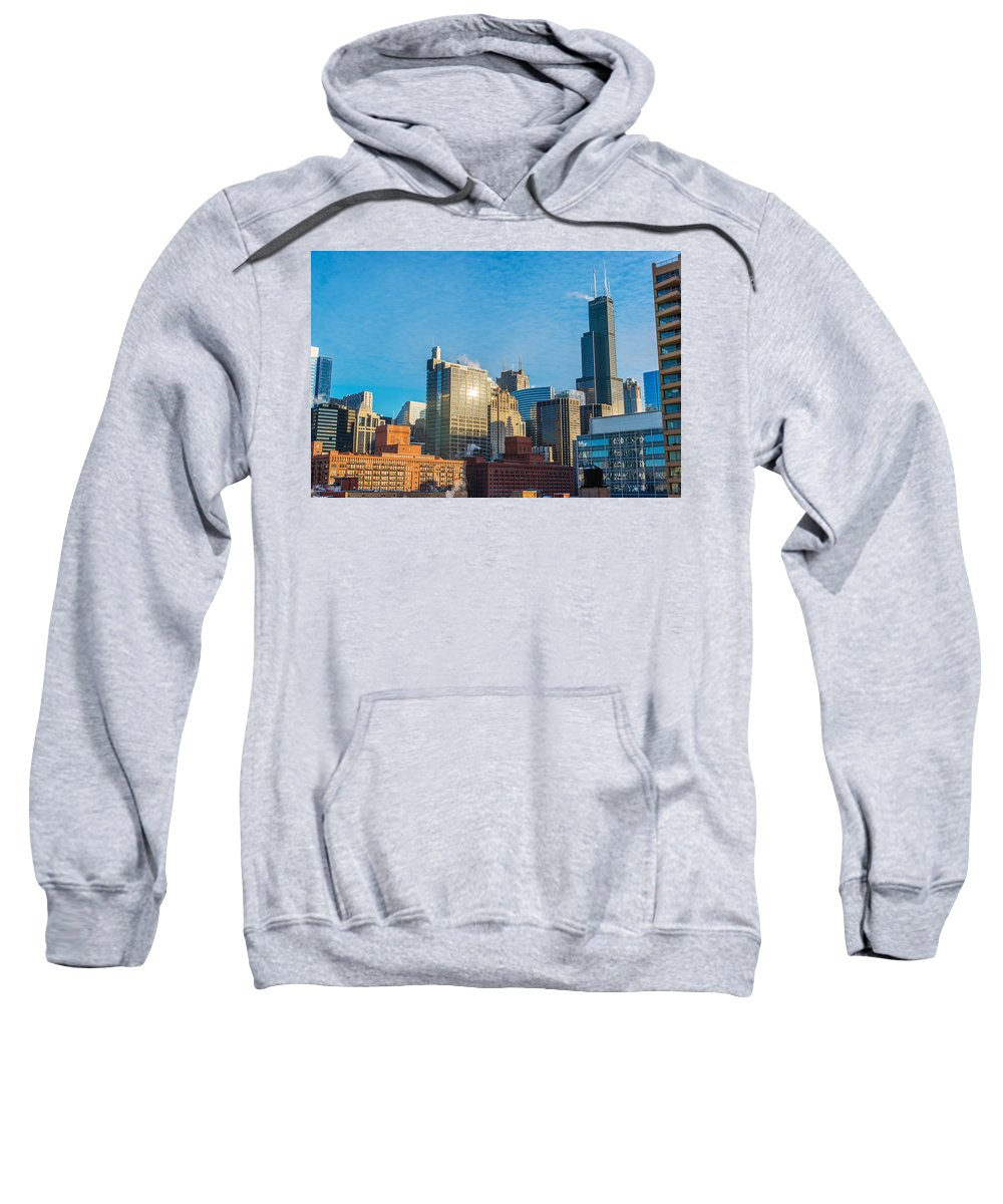 Architecture Sweatshirt featuring the photograph Chicago Cityscape During The Day by Jess Kraft