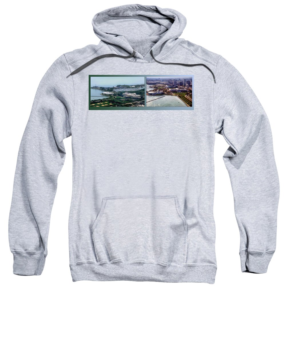 Chicago Sweatshirt featuring the photograph Chicago Museum Park 2 Panel by Thomas Woolworth