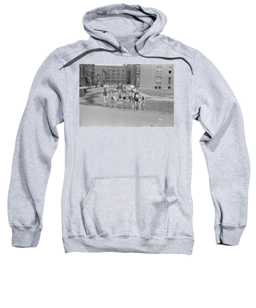 1941 Sweatshirt featuring the photograph Chicago Summer, 1941 by Granger