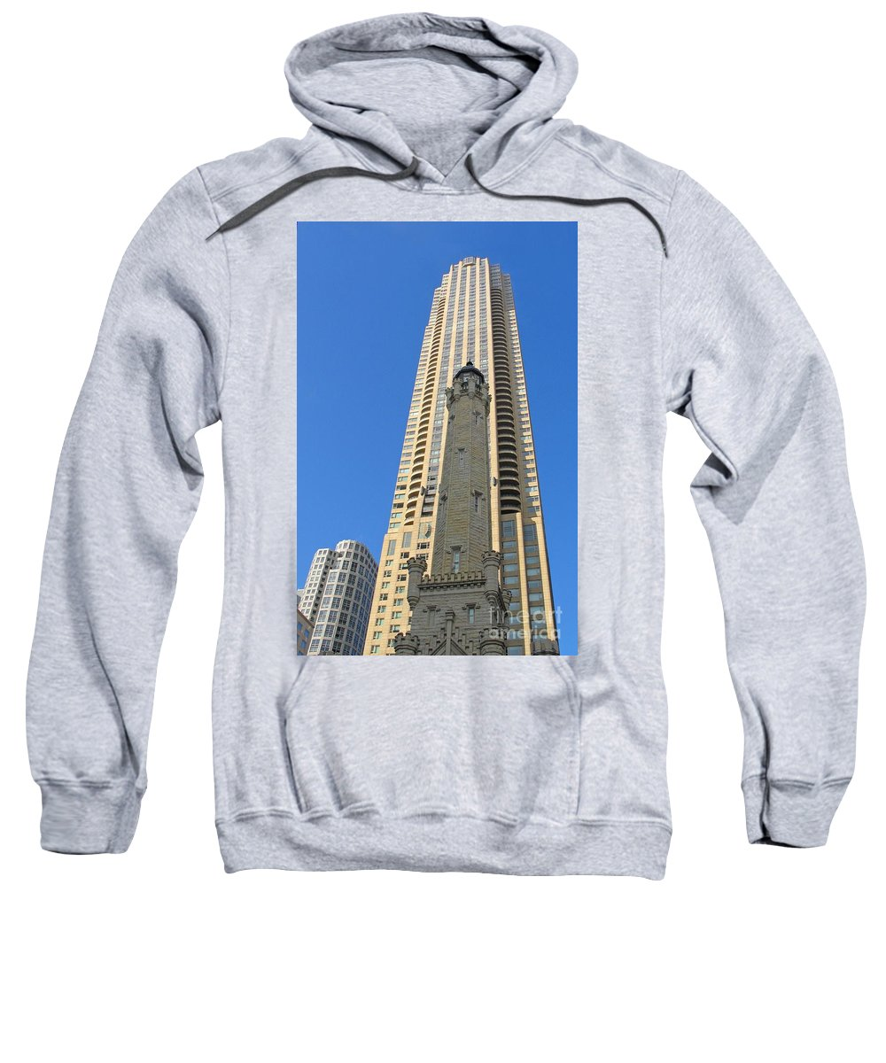 Chicagoland Sweatshirt featuring the photograph Chicago Water Tower by Ann Horn