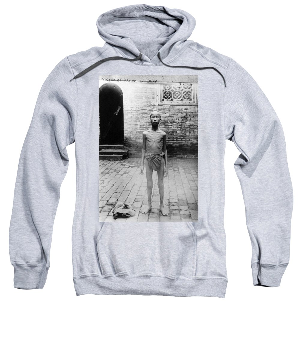 20th Century Sweatshirt featuring the photograph China Famine Victim by Granger