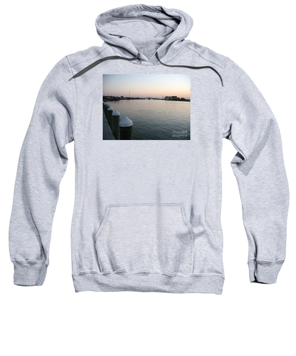 Sond Sweatshirt featuring the photograph Chincoteague Sound In The Eveninglight by Christiane Schulze Art And Photography