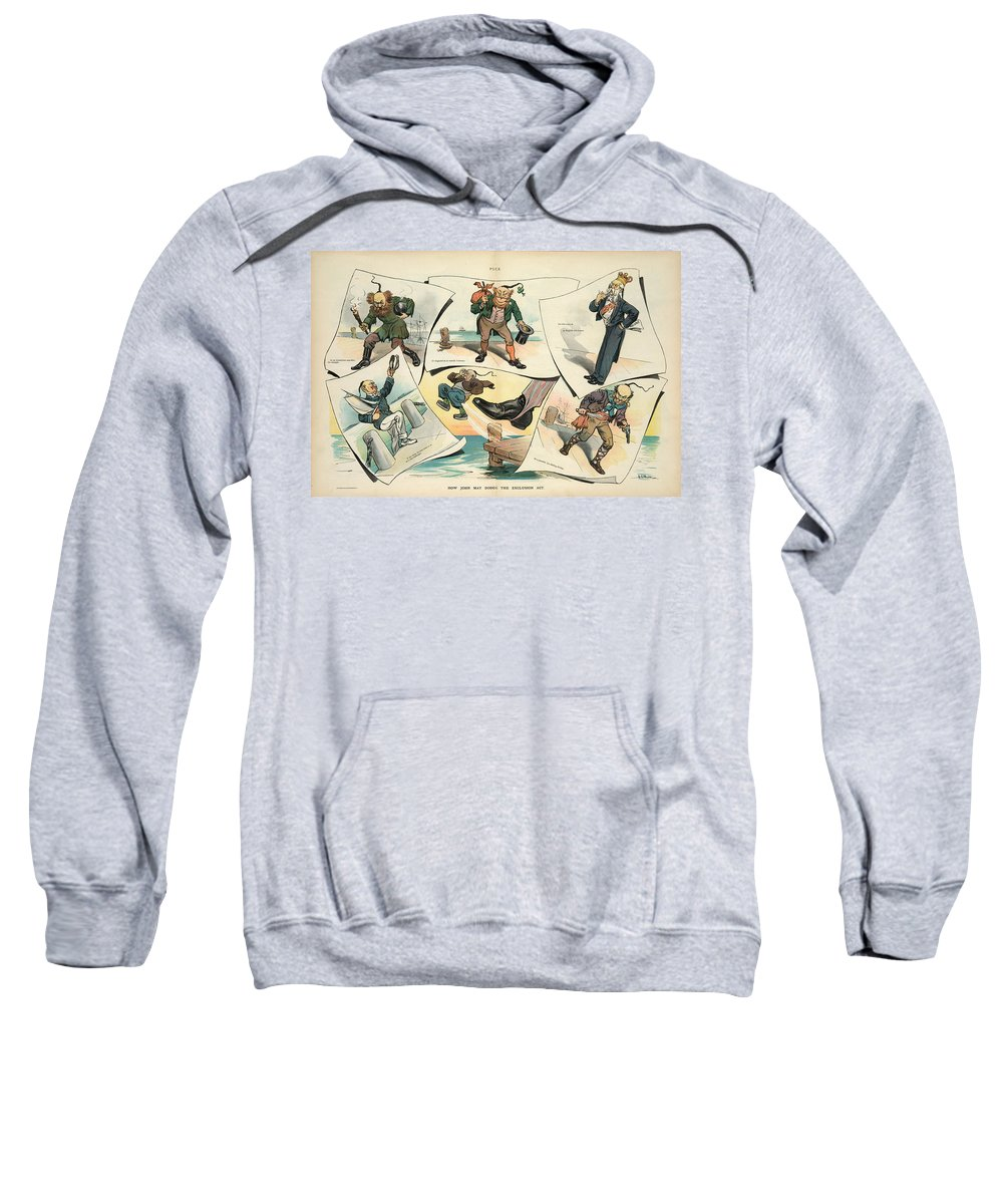 1905 Sweatshirt featuring the painting Chinese Exclusion Act, 1905 by Granger