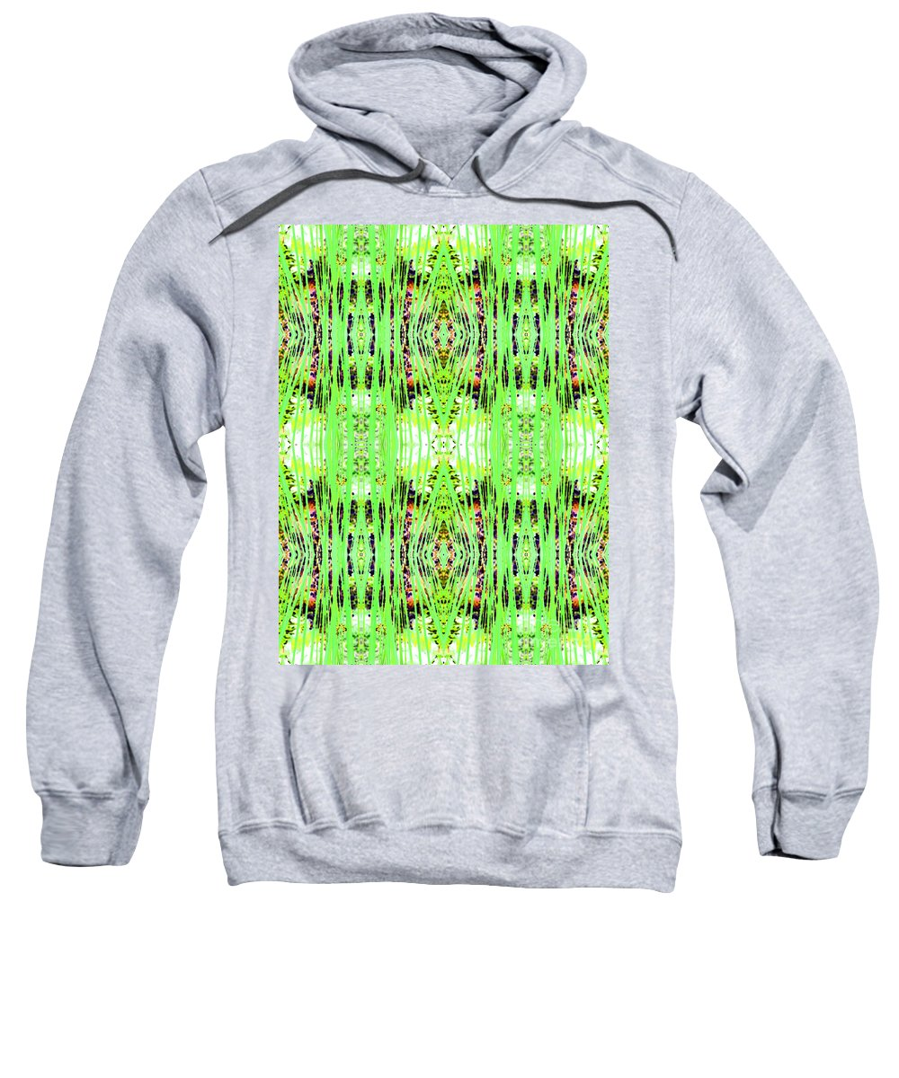 Abstract Sweatshirt featuring the photograph Chive Abstract Green by Barbara Moignard