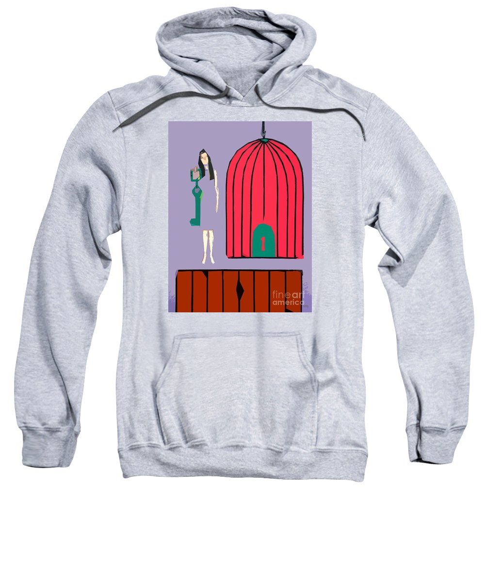 Abstract Sweatshirt featuring the painting Choice by Patrick J Murphy
