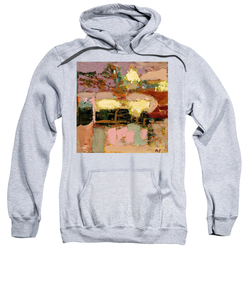 Landscape Sweatshirt featuring the painting Chopped Liver by Allan P Friedlander