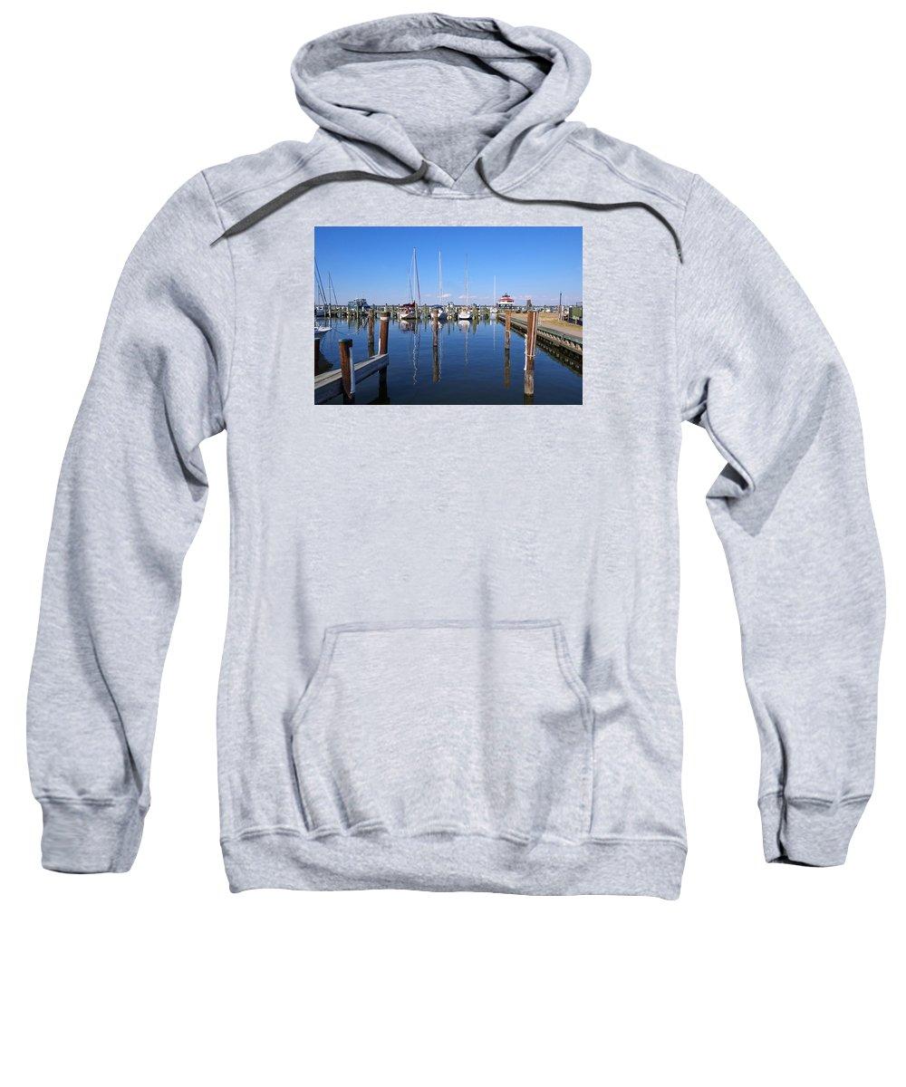 Choptank River Sweatshirt featuring the photograph Choptank River Marina by Francie Davis
