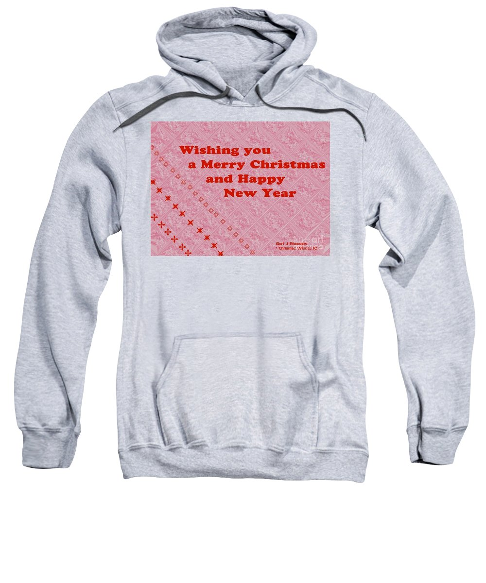 Modern Sweatshirt featuring the painting Christmas Cards And Artwork Christmas Wishes 10 by Gert J Rheeders
