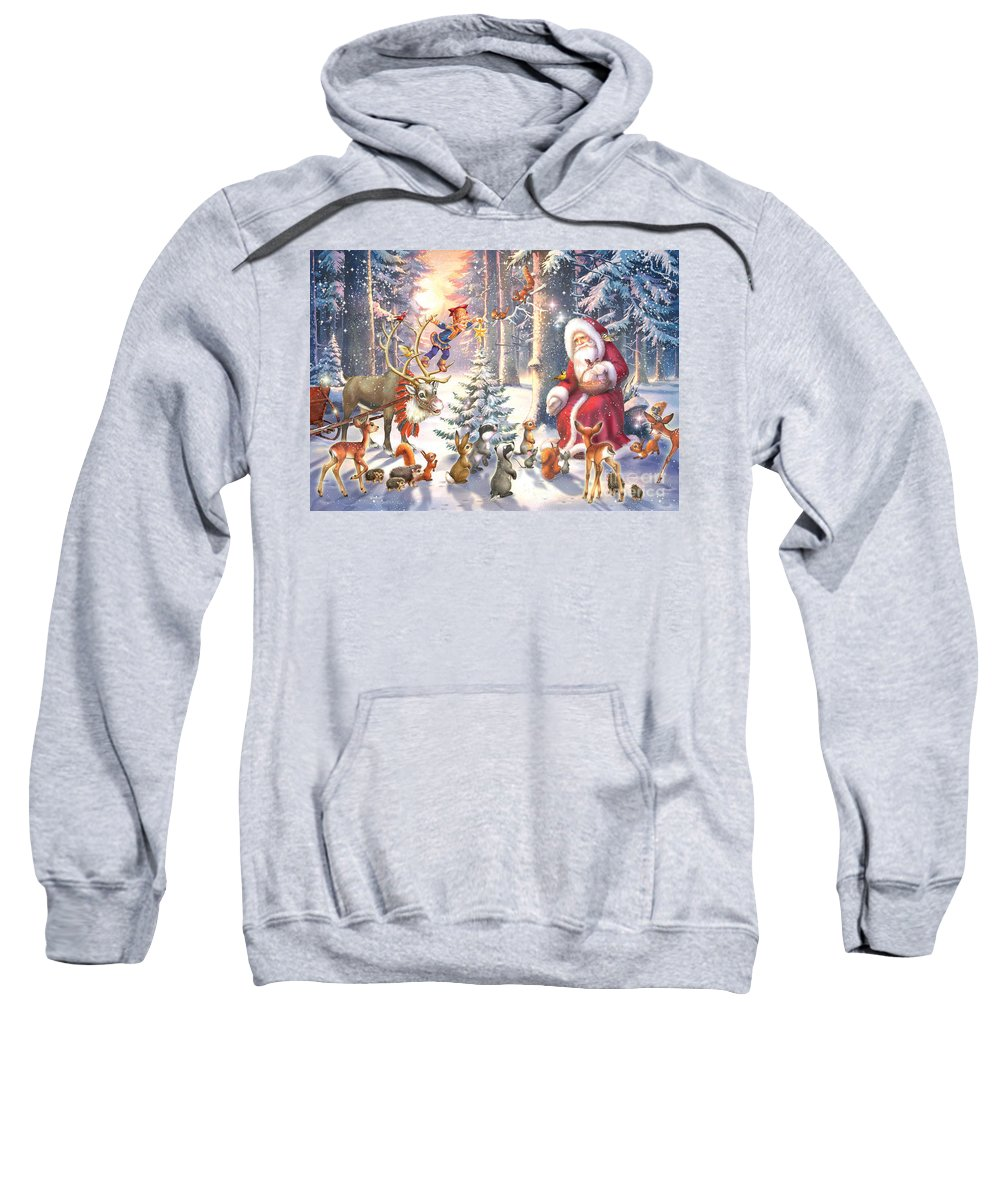 Zorina Baldescu Sweatshirt featuring the digital art Christmas In The Forest by MGL Meiklejohn Graphics Licensing