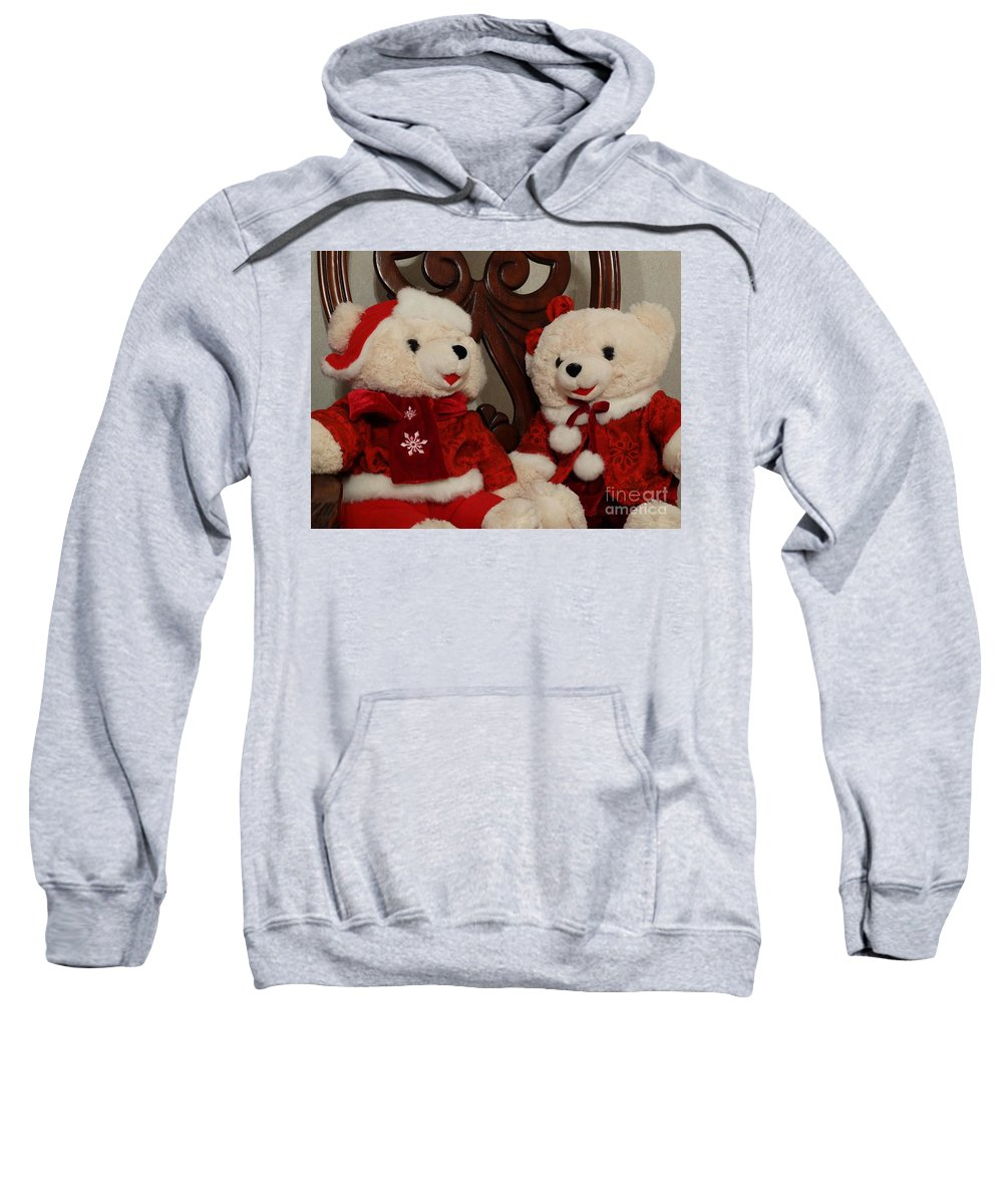 Greeting Card Sweatshirt featuring the photograph Christmas Time Bears by Joseph Baril