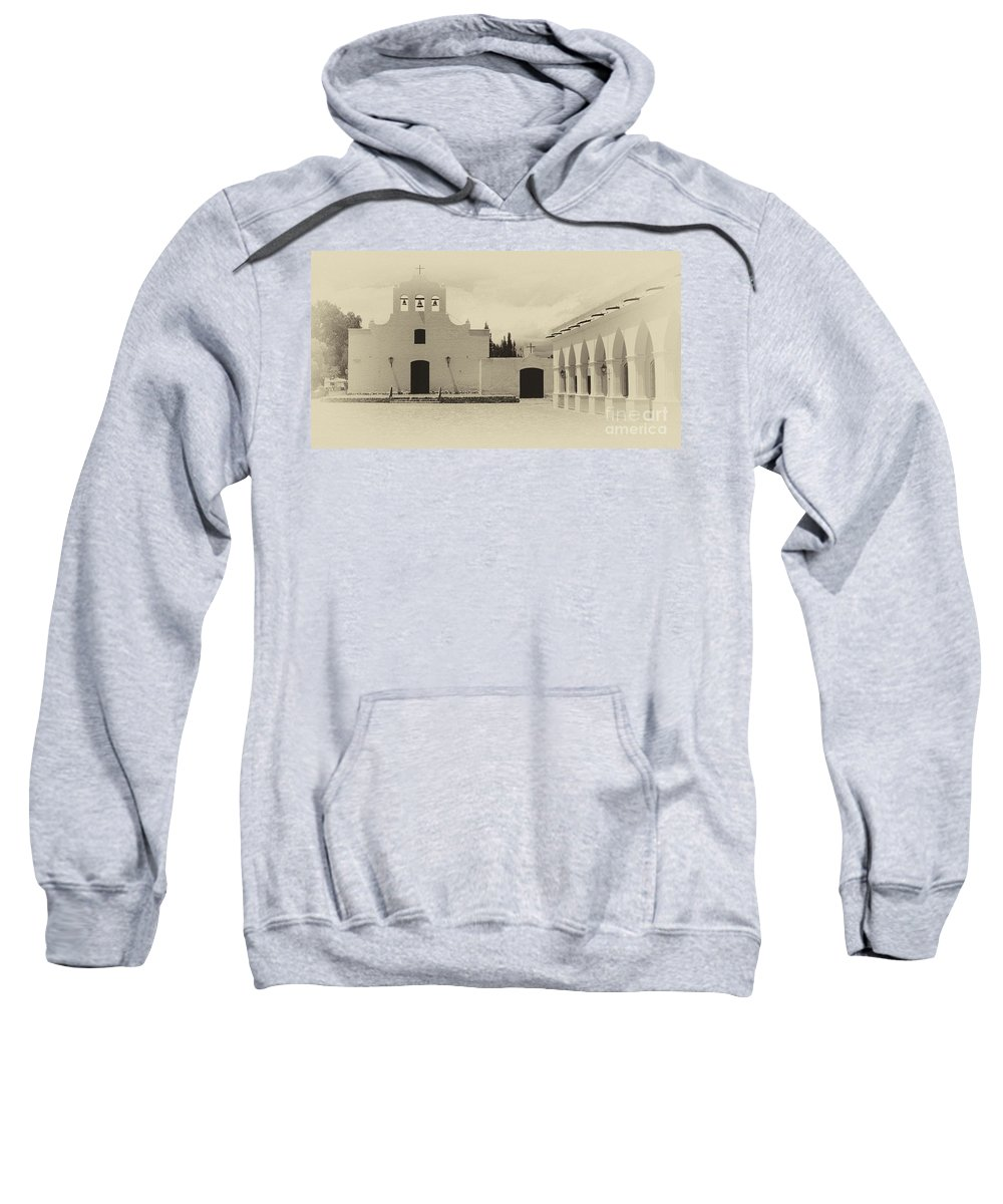 Church Sweatshirt featuring the photograph Church And Courtyard Argentina by Bob Christopher