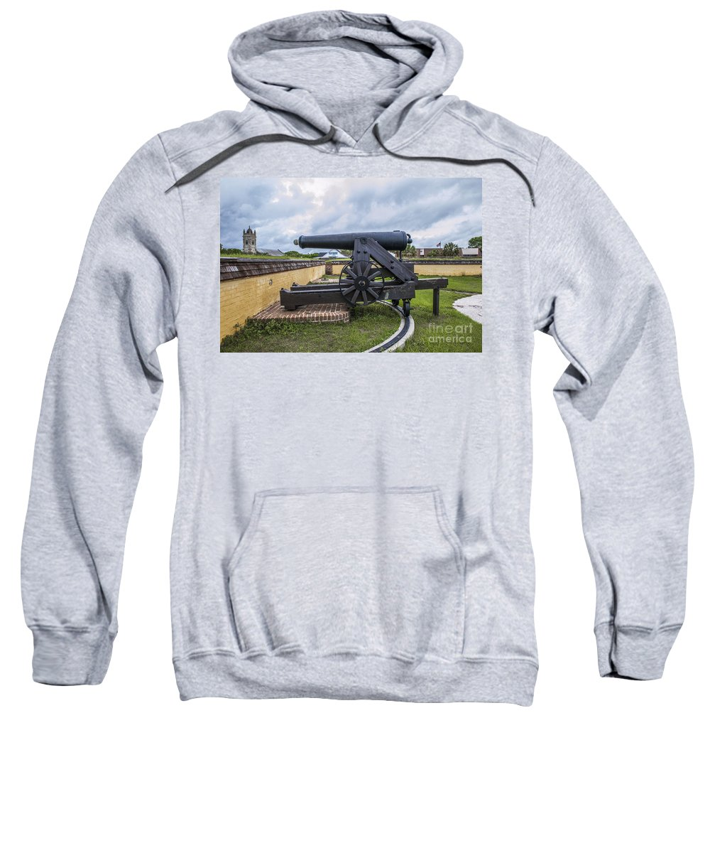 Church Sweatshirt featuring the photograph Church At Fort Moultrie by Dale Powell