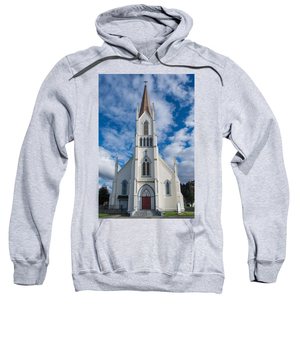 Church Of Assumption Sweatshirt featuring the photograph Church Of Assumption by Greg Nyquist
