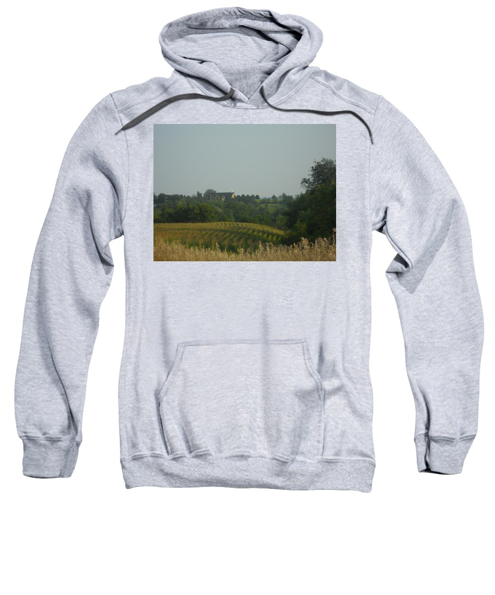 Church Sweatshirt featuring the photograph Church On A Hill by Coleen Harty