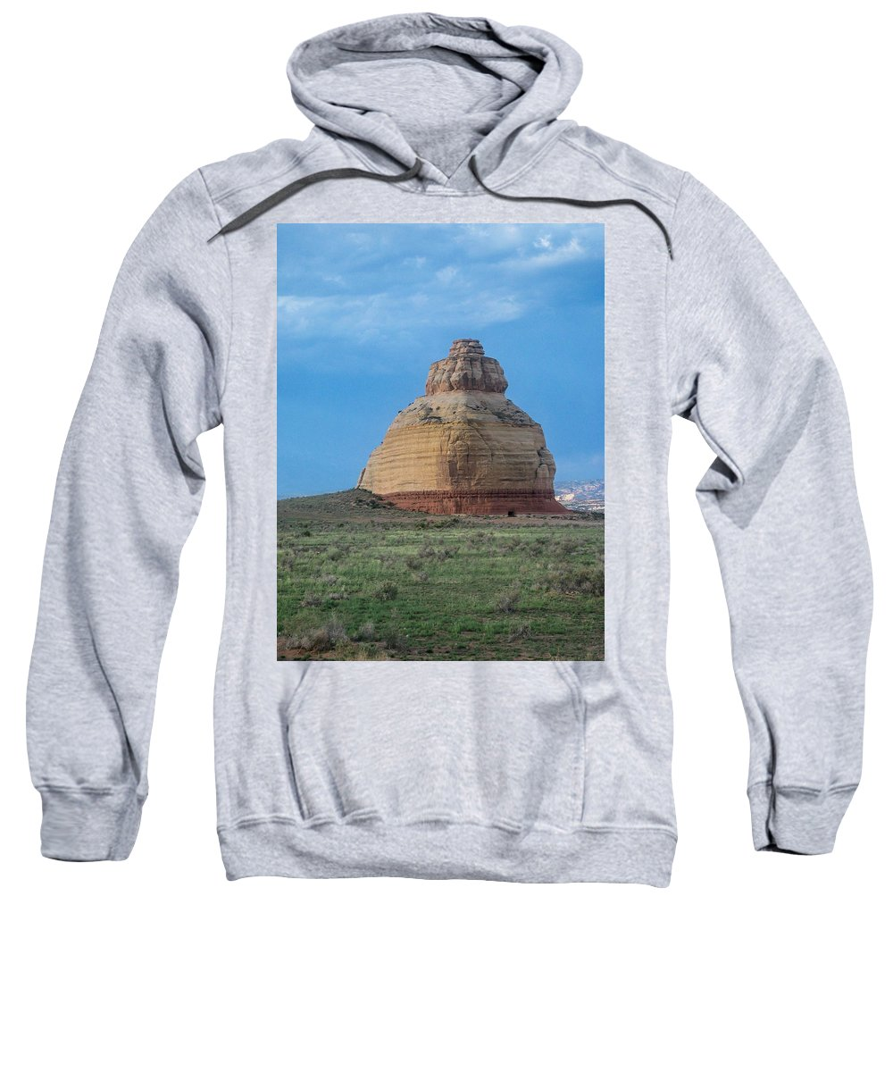 Moab Sweatshirt featuring the photograph Church Rock On The Road To Moab by John Haldane