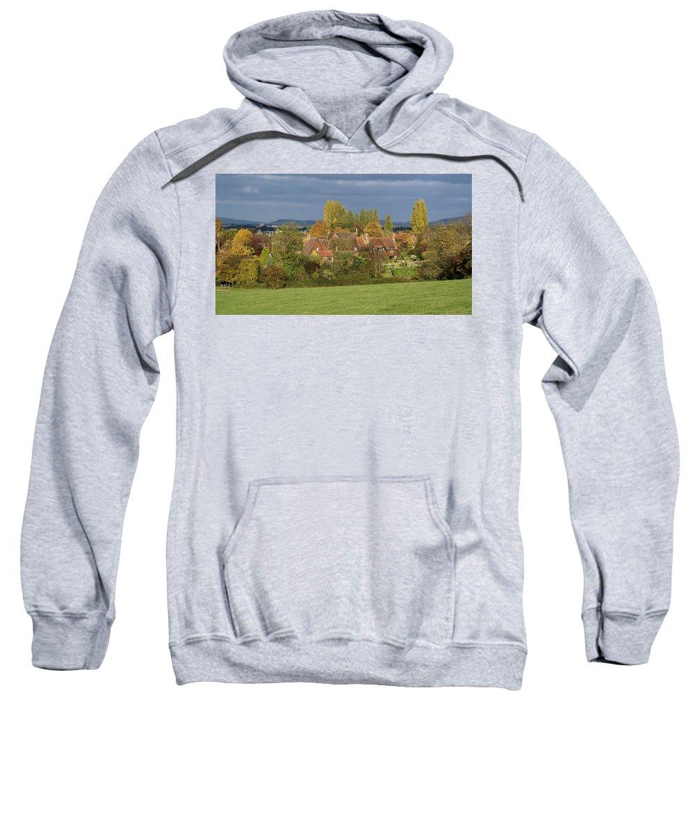 Churchdown Sweatshirt featuring the photograph Churchdown by Ron Harpham