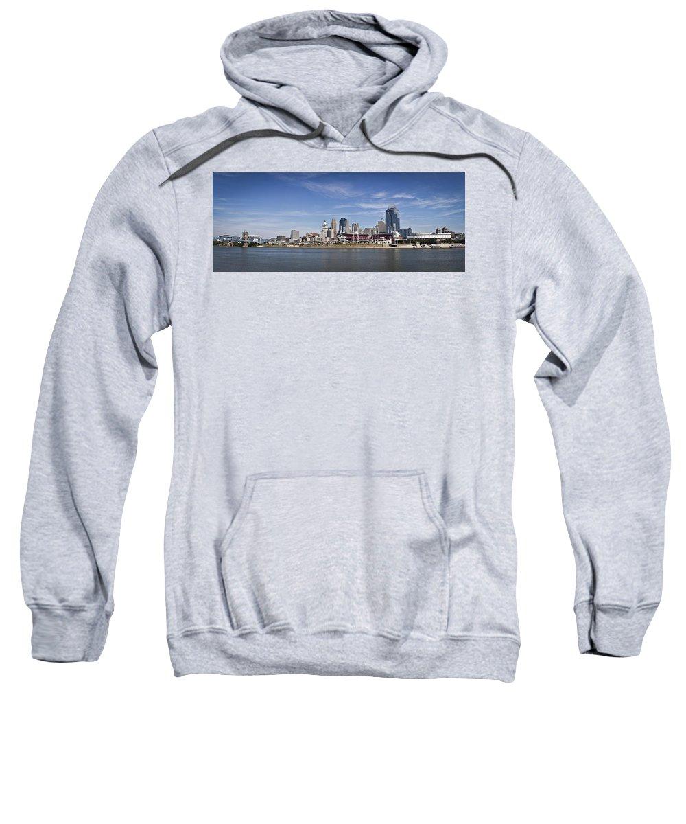 Cincinnati Sweatshirt featuring the photograph Cincinnati, Ohio Panorama by Scott Meyer