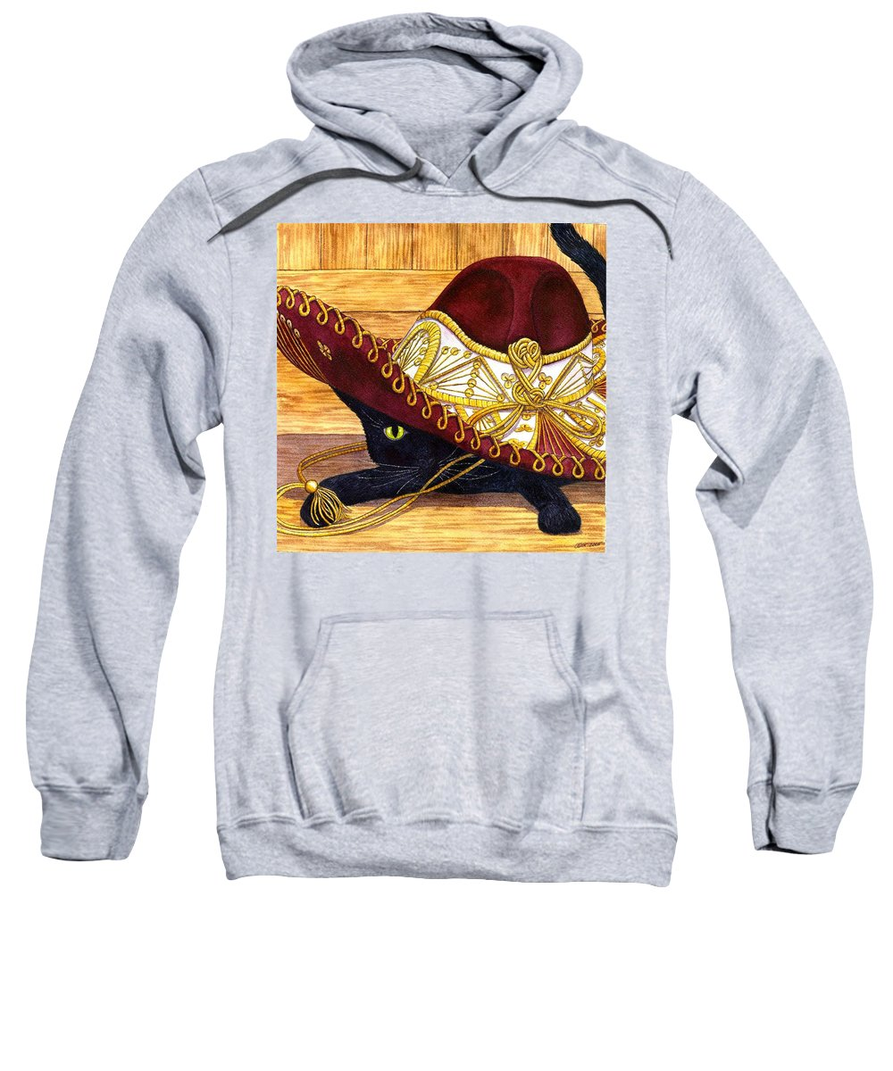 Cat Sweatshirt featuring the painting Cinco De Mayo by Catherine G McElroy