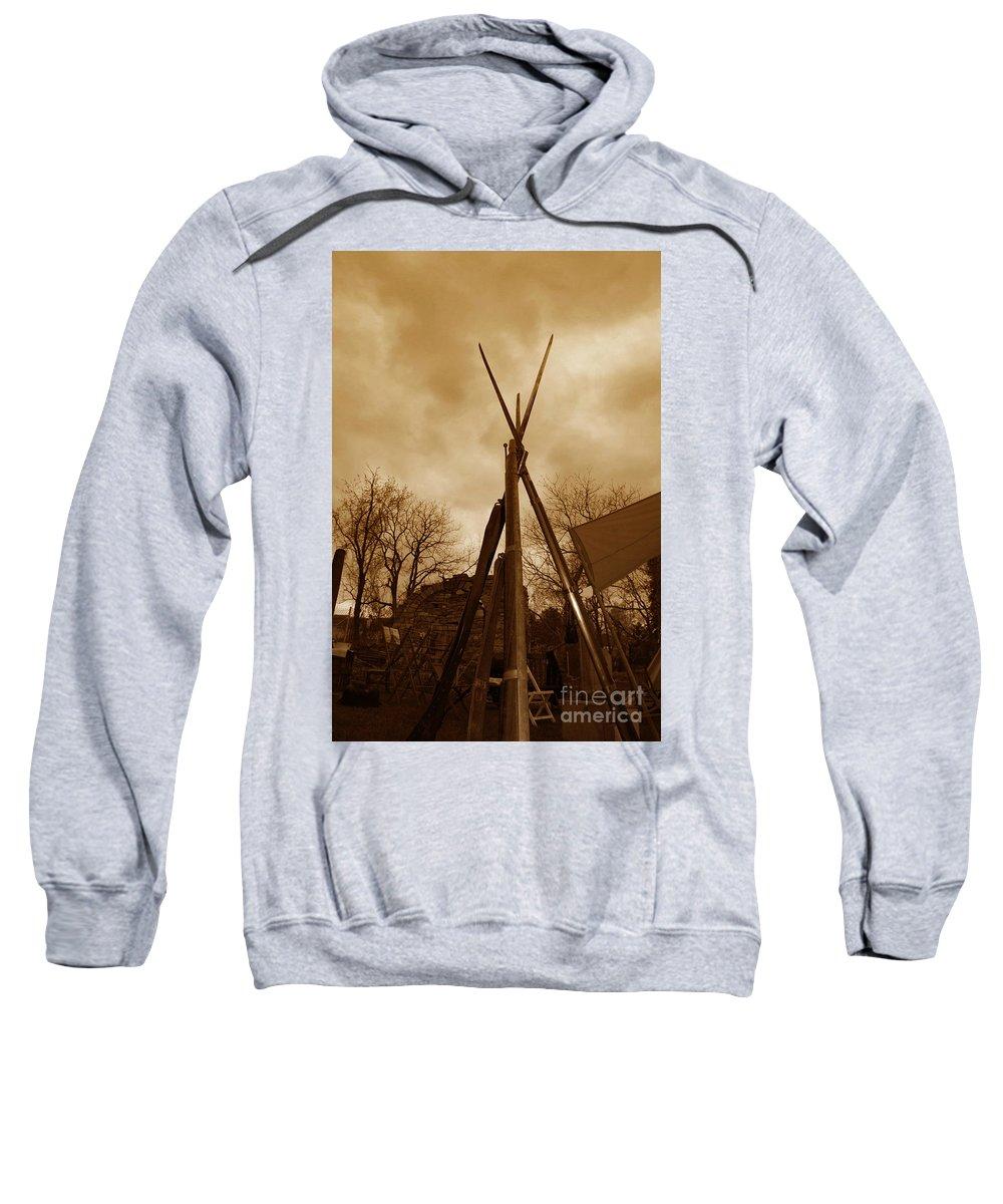 Civil War Sweatshirt featuring the photograph Civil War Camp by Paul Ward