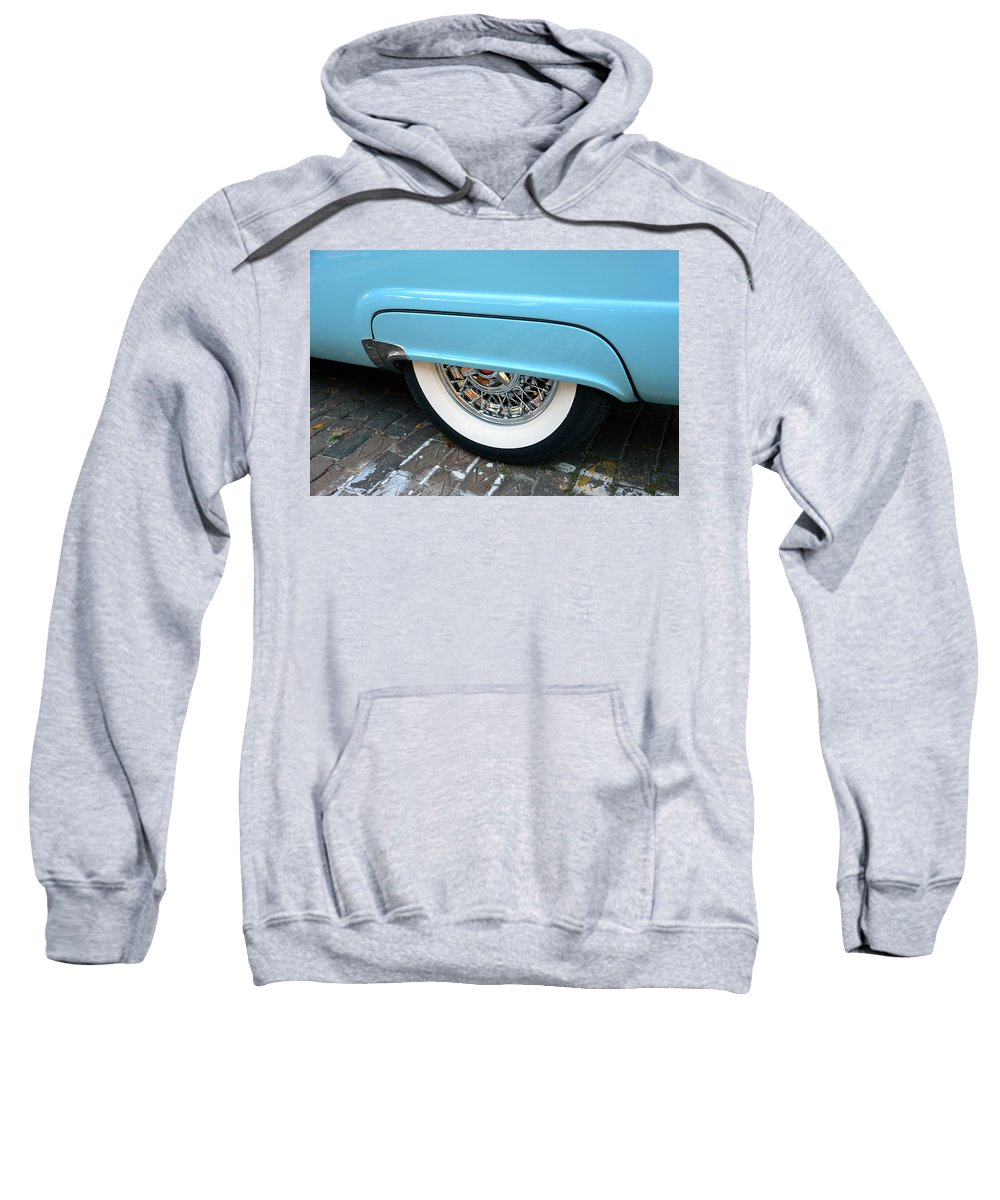 Ford Fairlane Thunderbird Sweatshirt featuring the photograph Classic Lines Of 1956 by David Lee Thompson
