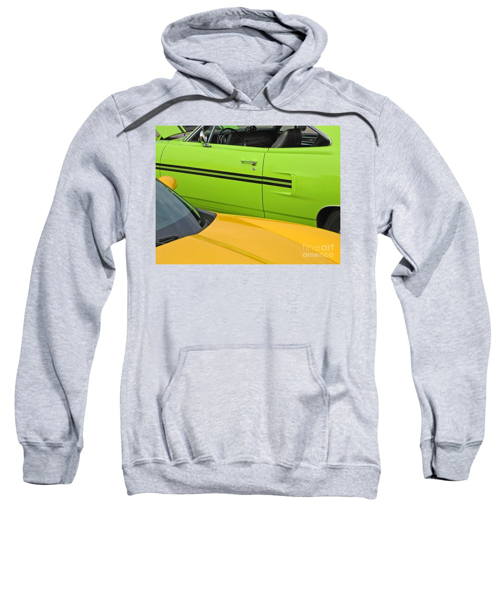 Car Sweatshirt featuring the photograph Classy Classics by Ann Horn