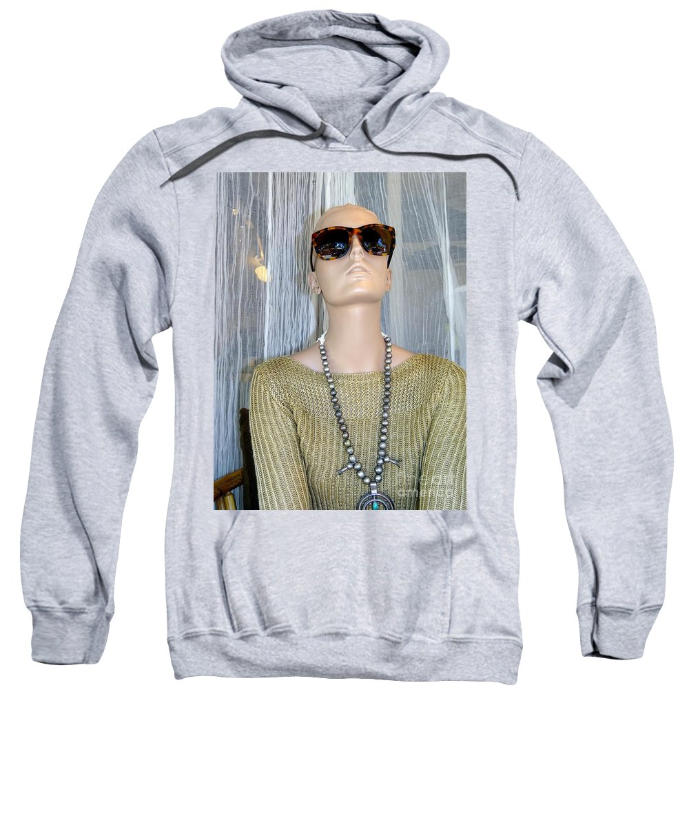 Mannequins Sweatshirt featuring the photograph Classy In Shades by Ed Weidman