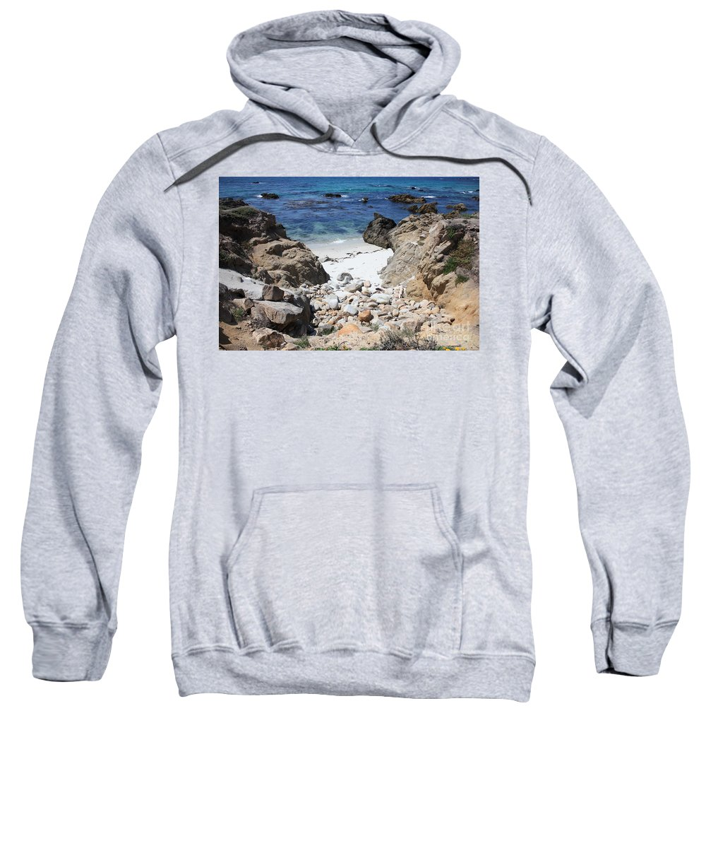 Landscape Sweatshirt featuring the photograph Clear California Cove by Carol Groenen