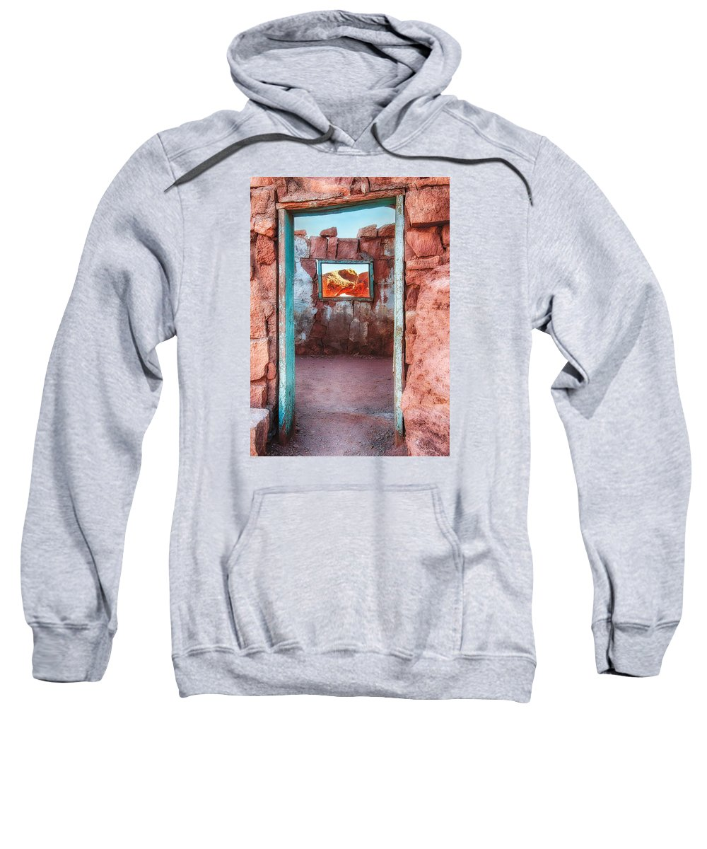 Arizona Sweatshirt featuring the photograph Cliff Dwellers Near Lee's Ferry by Alan Toepfer