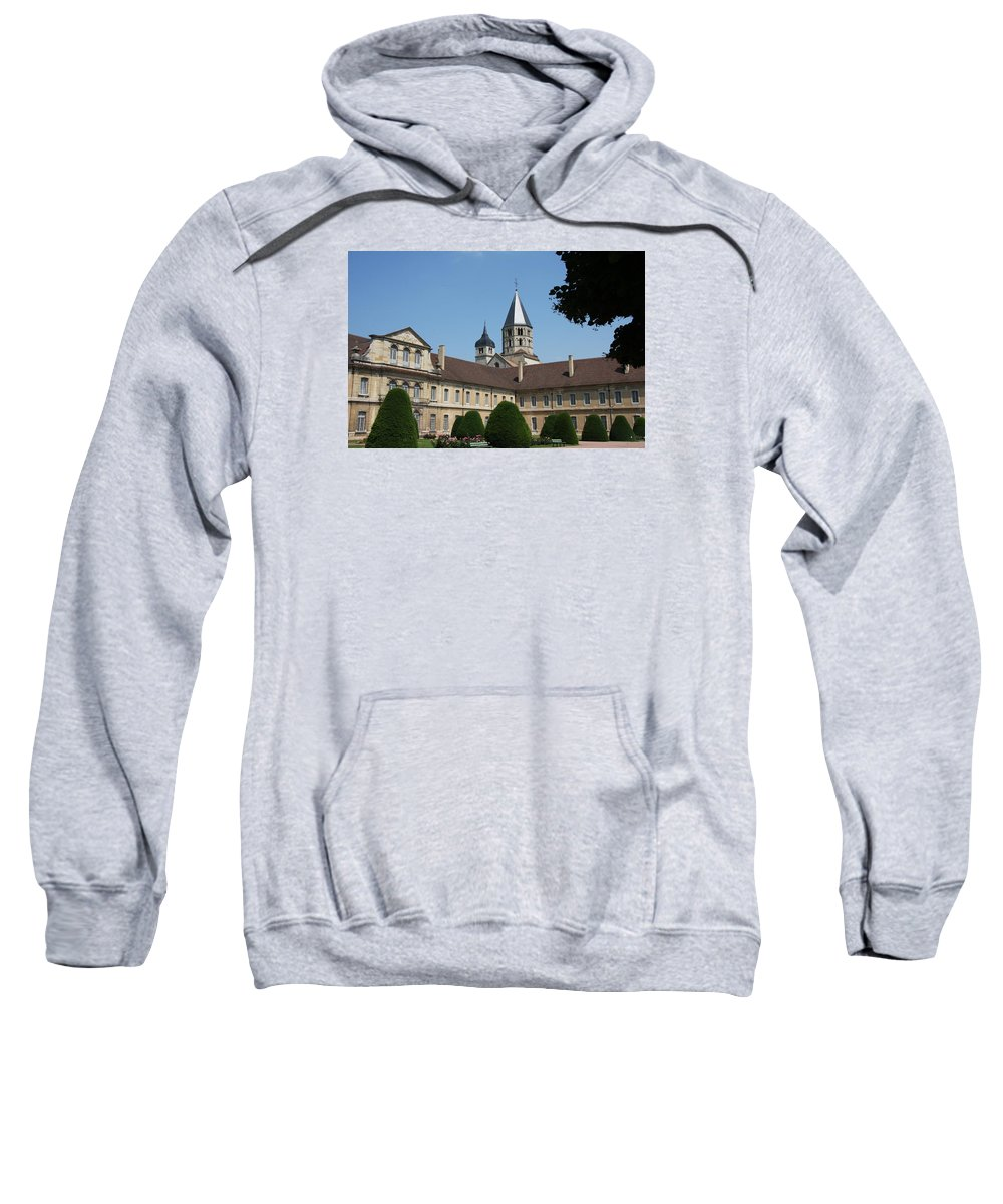 Cloister Sweatshirt featuring the photograph Cloister Cluny Garden View by Christiane Schulze Art And Photography