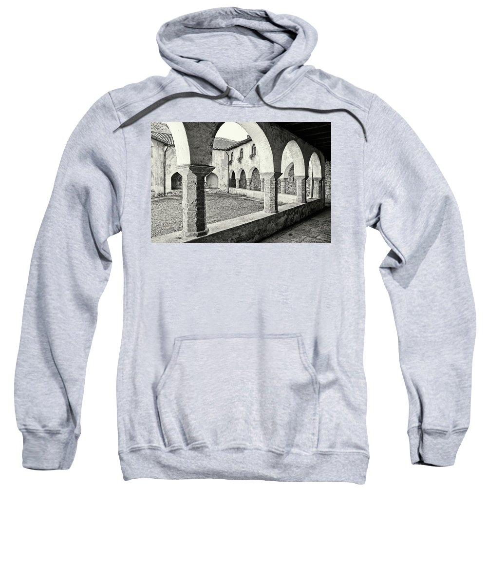Architecture Sweatshirt featuring the photograph Cloister by Roberto Pagani