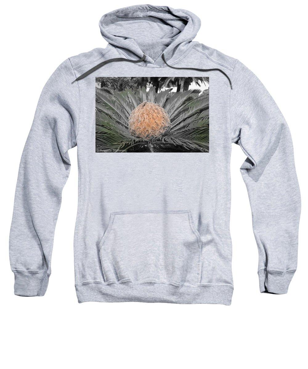Augusta Stylianou Sweatshirt featuring the photograph Close Up Palm by Augusta Stylianou