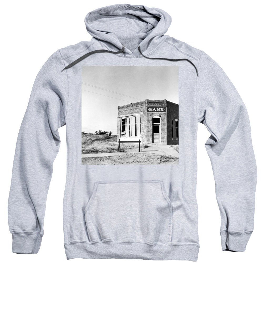 1936 Sweatshirt featuring the photograph Closed Bank, 1936 by Granger