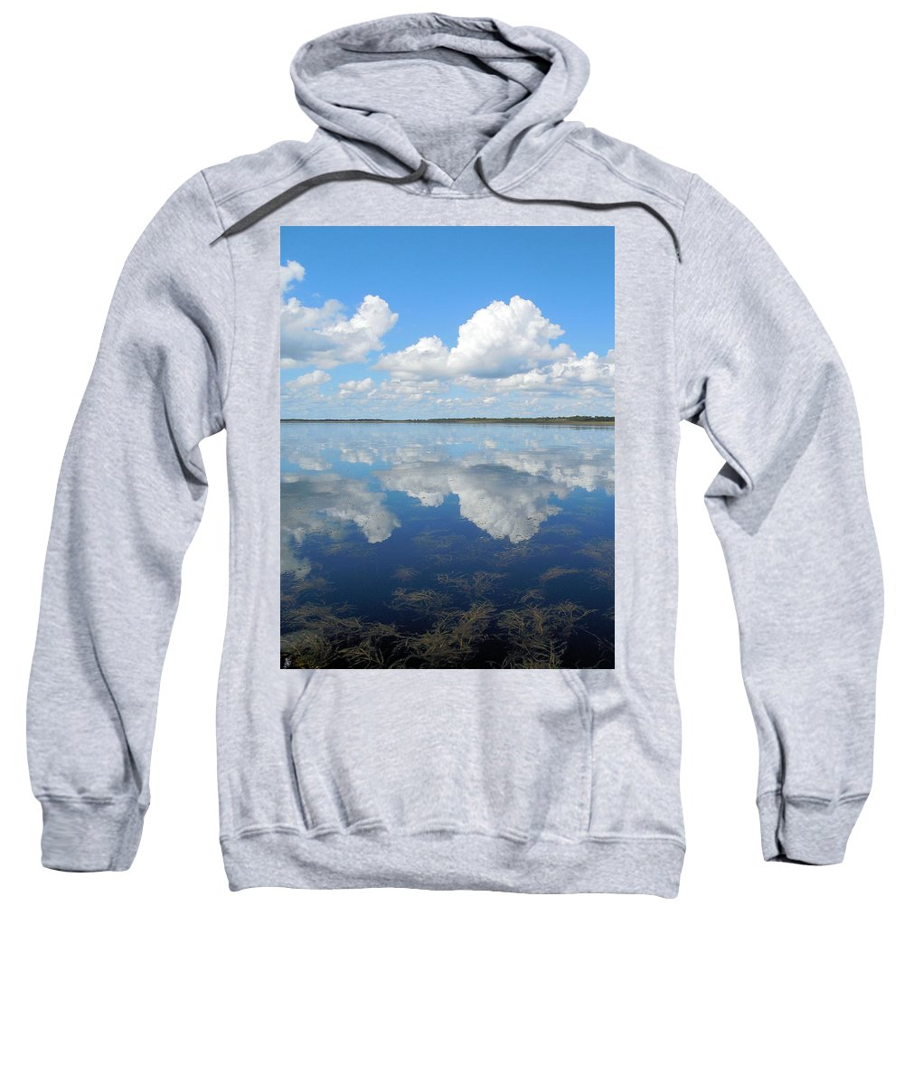 Landscape Sweatshirt featuring the photograph Clouds In The Lake by Steve Stones