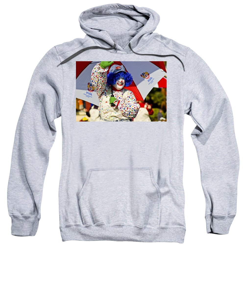 Clown Sweatshirt featuring the photograph Clowning Around by Jon Berghoff