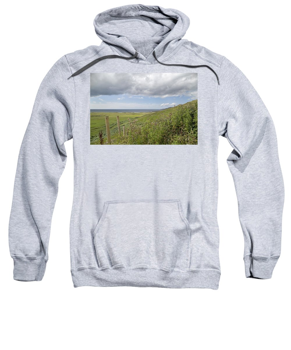 Field Sweatshirt featuring the photograph Coastal Country by Betsy Knapp