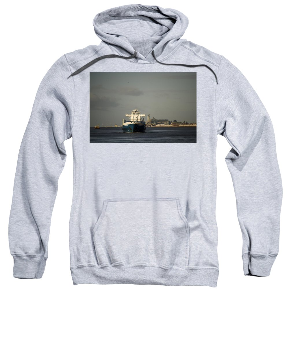 Cargo Ship Sweatshirt featuring the photograph Coastal Deniz by Spikey Mouse Photography