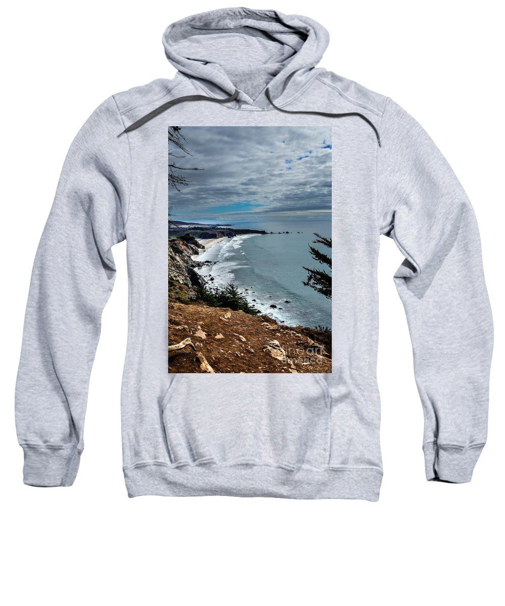 Brown Sweatshirt featuring the photograph Coastal Retreat by Rich Priest