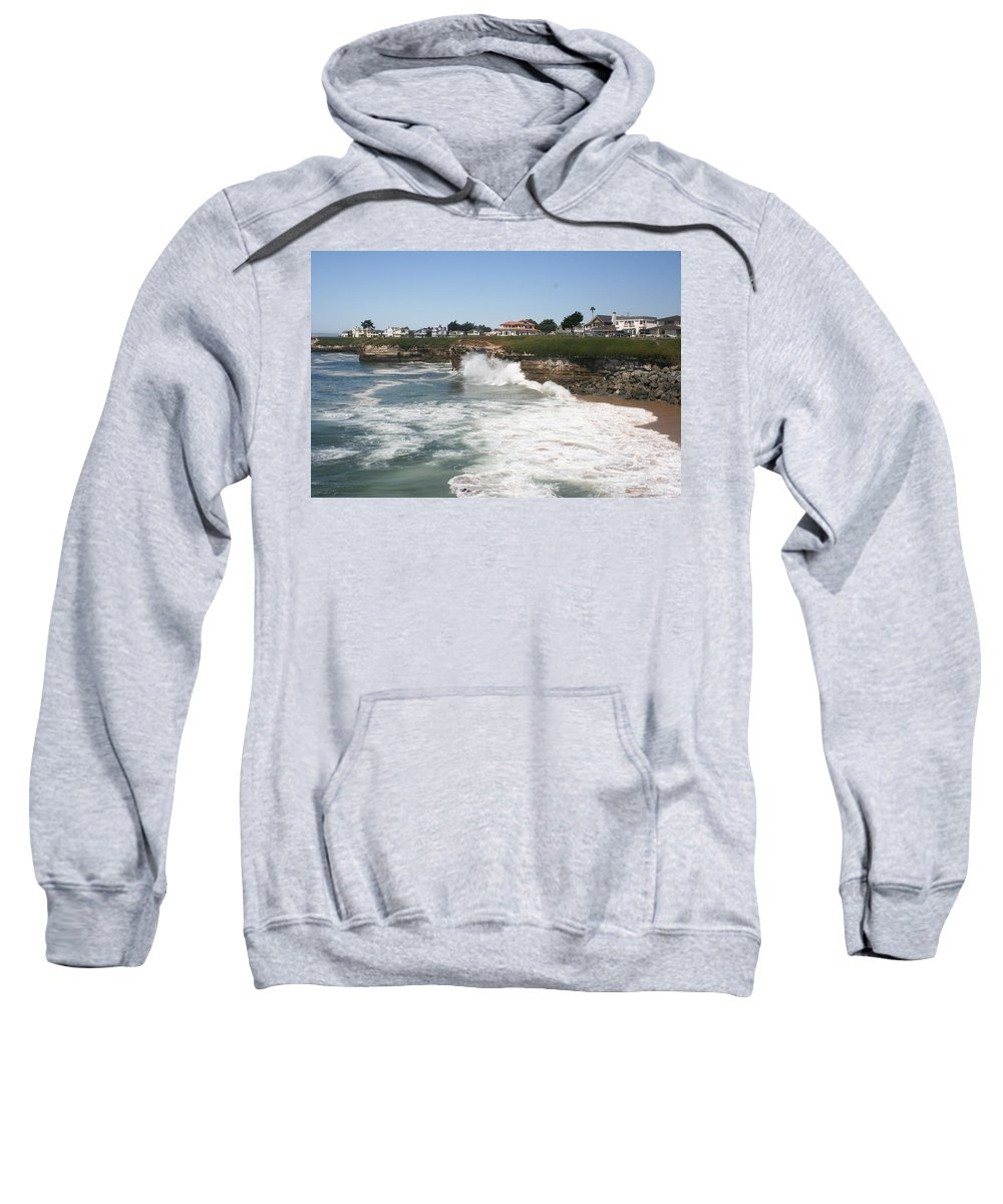 Coast Sweatshirt featuring the photograph Coastline Santa Cruz - California by Christiane Schulze Art And Photography