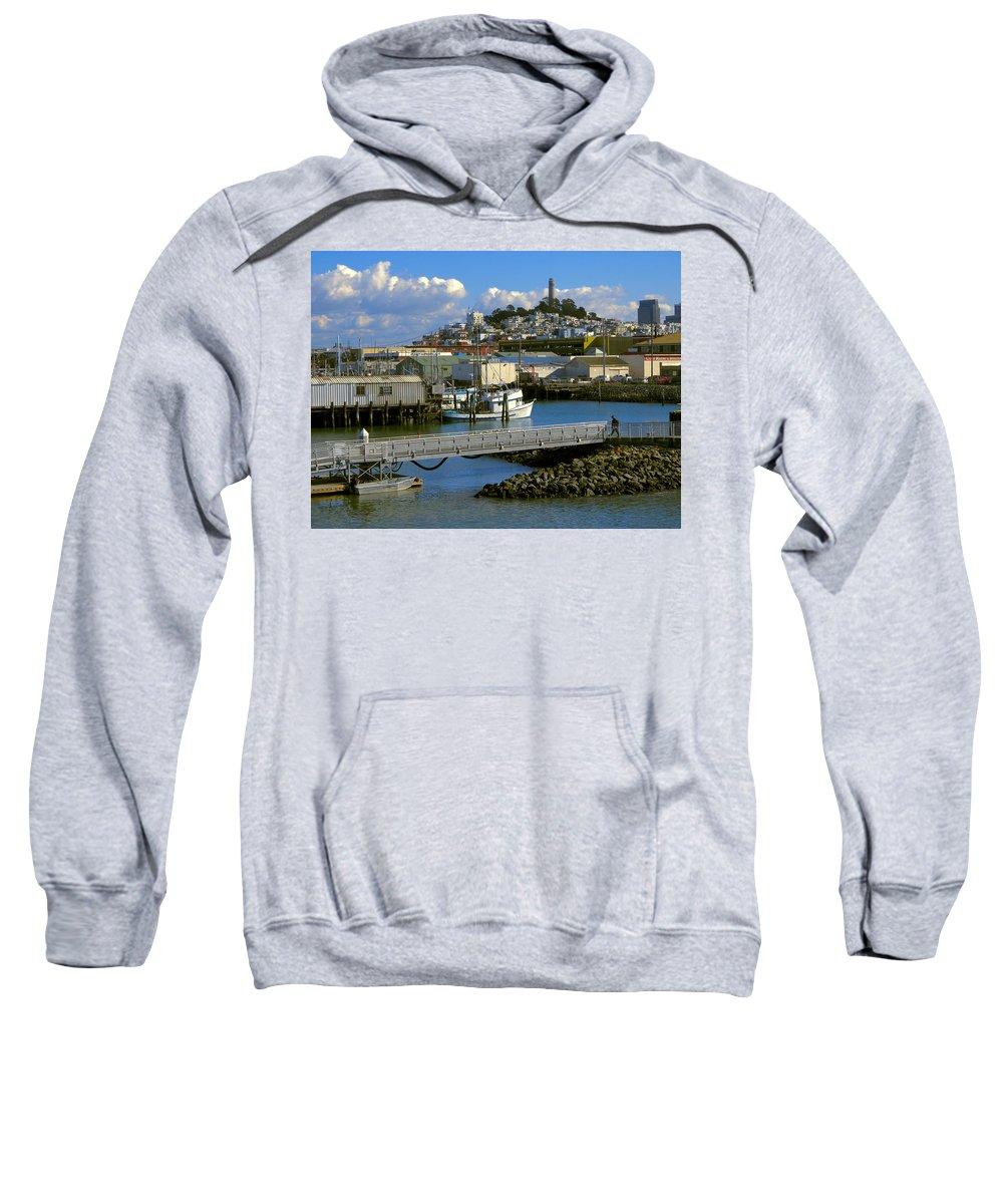 san Francisco Sweatshirt featuring the photograph Coit Tower And Marina - San Francisco by Daniel Hagerman