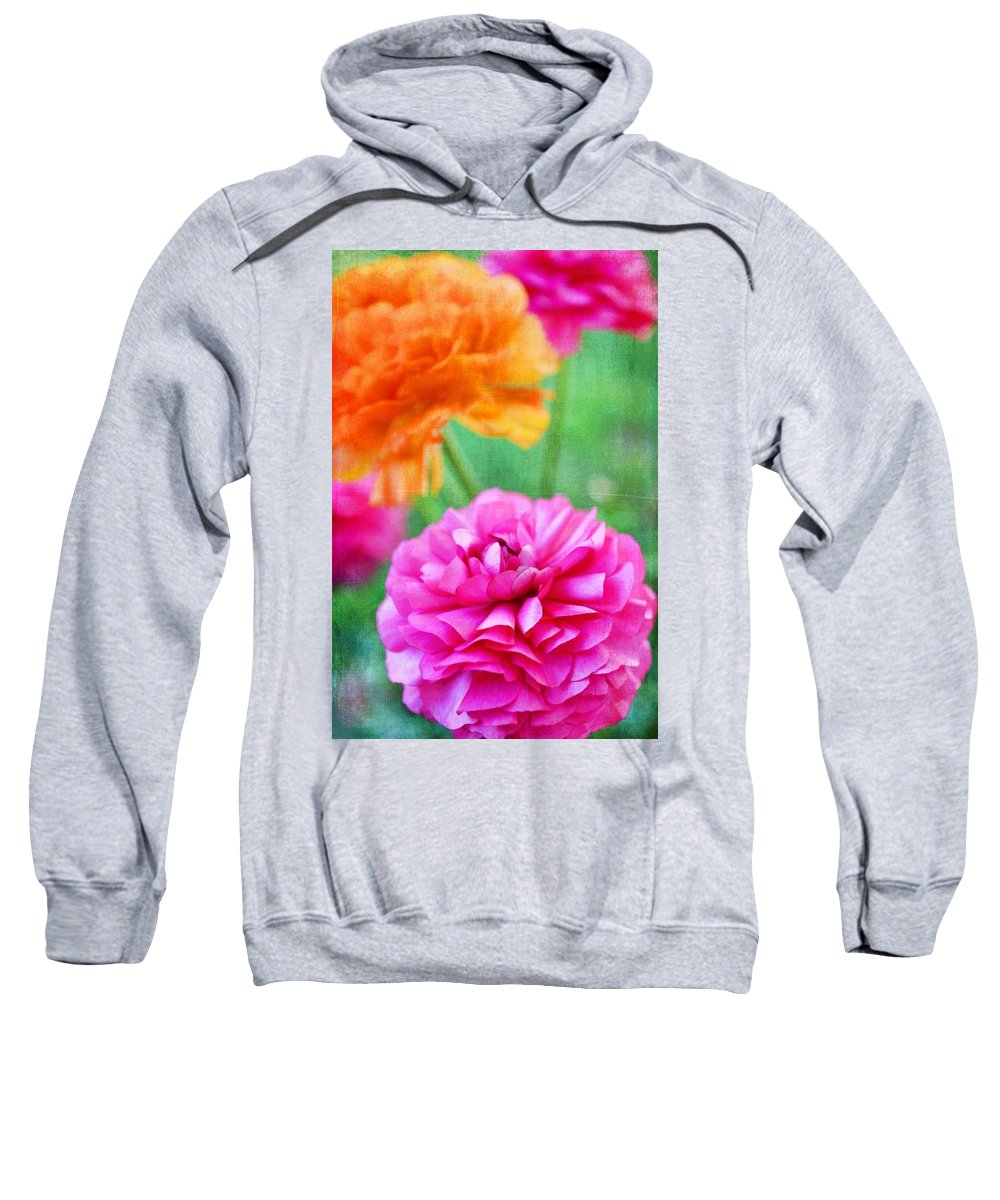 Floral Sweatshirt featuring the photograph Color 150 by Pamela Cooper