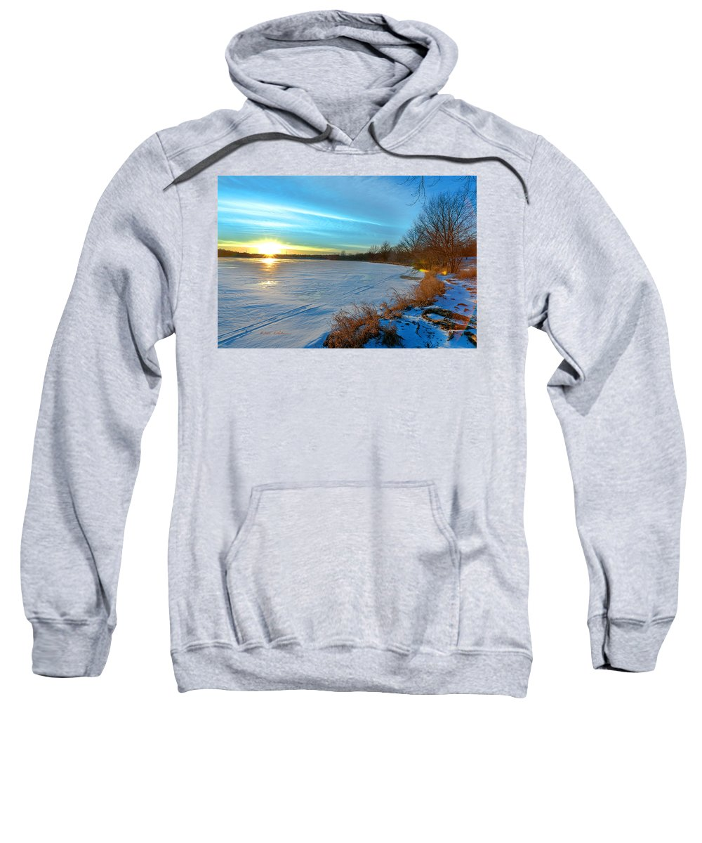 Winter Scene Sweatshirt featuring the photograph Color Burst by Edward Peterson