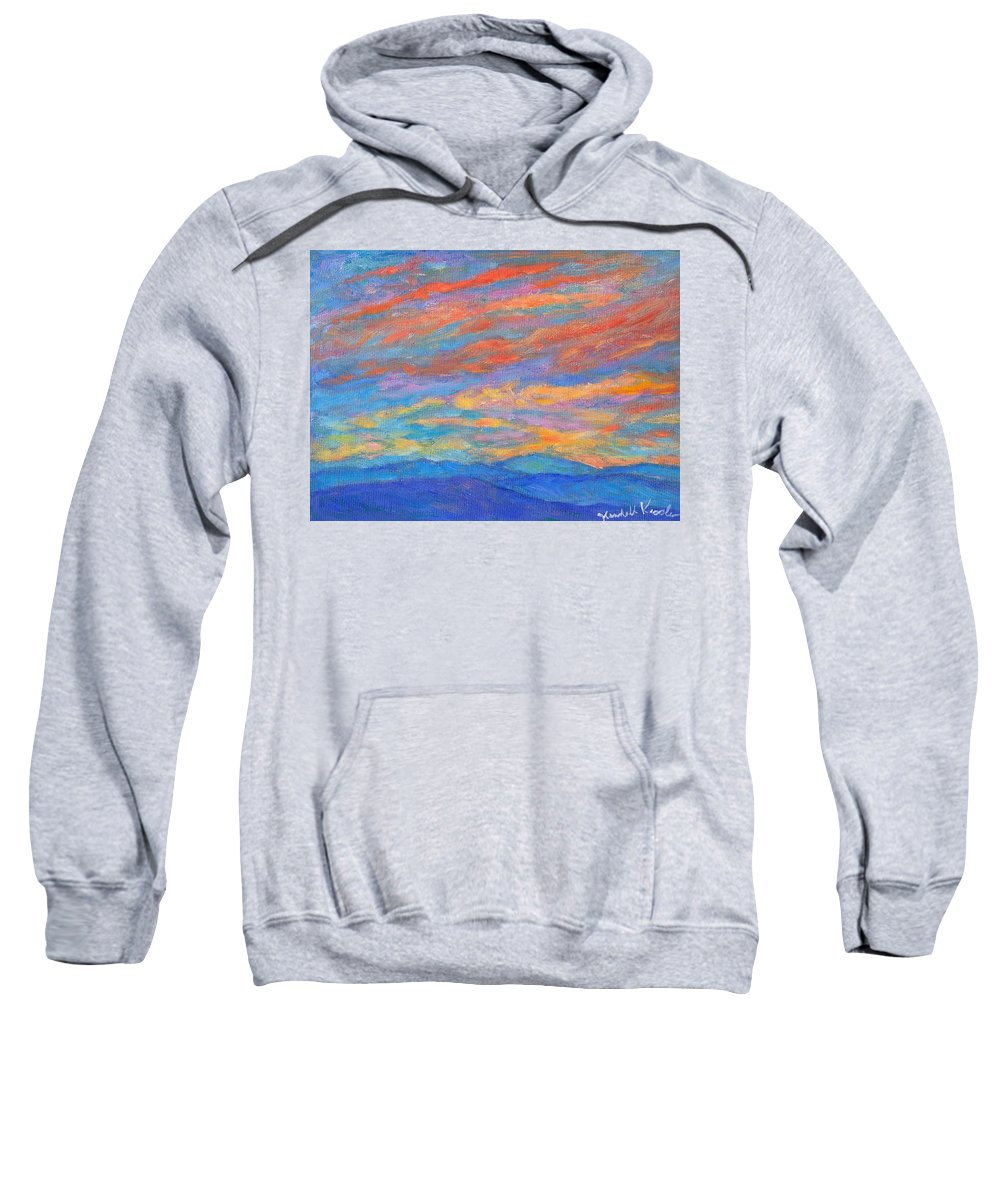 Blue Ridge Mountains Sweatshirt featuring the painting Color Ripples over the Blue Ridge by Kendall Kessler