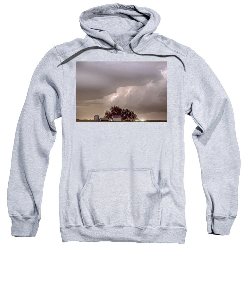 Weather Sweatshirt featuring the photograph Colorado Farm Country Storm by James BO Insogna