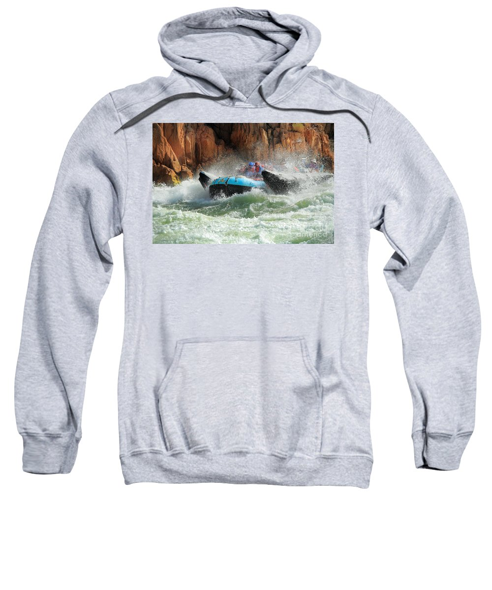 America Sweatshirt featuring the photograph Colorado River Rafters by Inge Johnsson